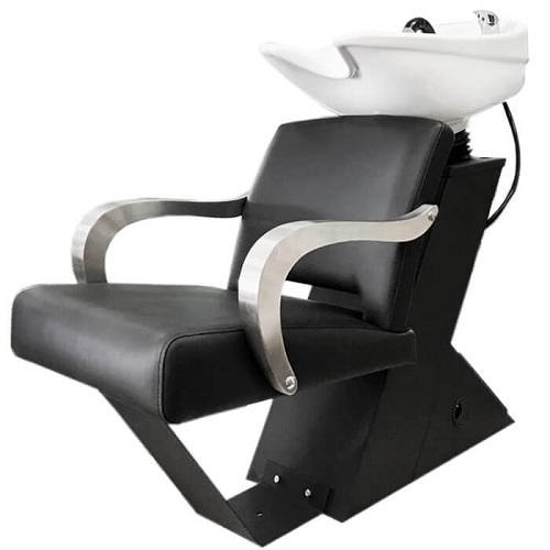 Мойка парикмахерская ДАСТИ с креслом БРУНО раковина средняя белая