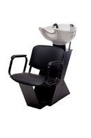 Мойка парикмахерская Дасти с креслом Контакт раковина средняя белая