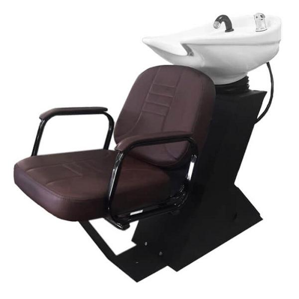 Парикмахерская мойка  Дасти с креслом бриз раковина средняя белая