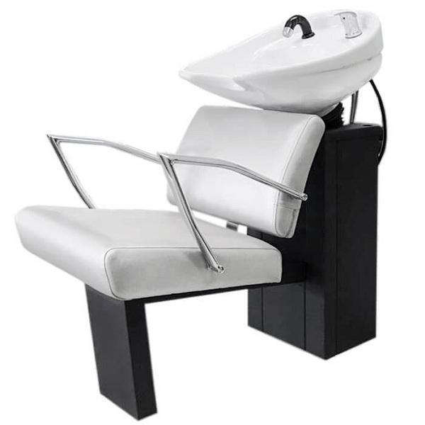 """Парикмахерская мойка """"Сибирь"""" с креслом """"Альфа"""" раковина средняя белая"""
