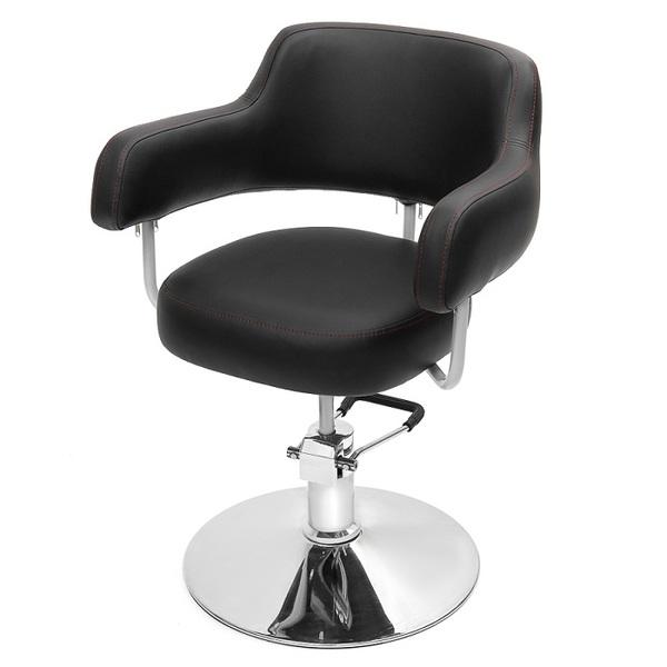 """Парикмахерское кресло """"Сатурн""""на гидравлике диск хром"""