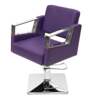 """Парикмахерское кресло """"Корнет""""гидравлика на квадрате хром"""