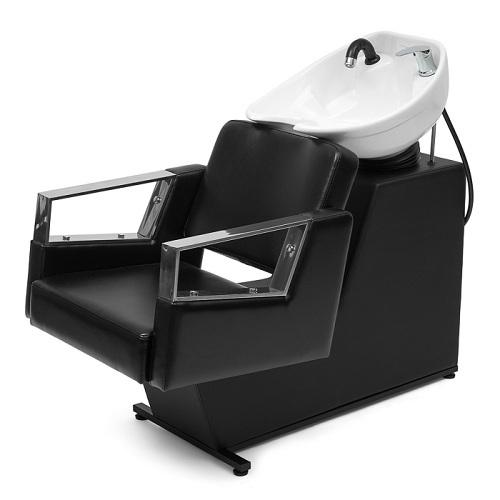 Мойка парикмахерская МЭГГИ с креслом КОРНЕТ раковина средняя белая