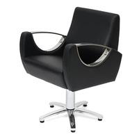 Парикмахерское кресло КАРАТ на гидравлике пятилучье хром