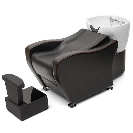 Парикмахерская мойка Наутилус  глубокая раковина с силиконовым вортником