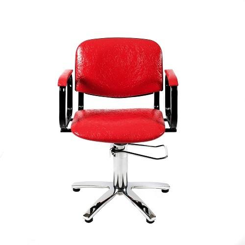 """Парикмахерское кресло """"Контакт""""на гидравлике пятилучье хром"""