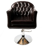 Парикмахерское кресло Консул гидравлика на диске хром