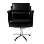 Парикмахерское кресло Ладья с мягким подлокотником  гидравлика пятилучье хром