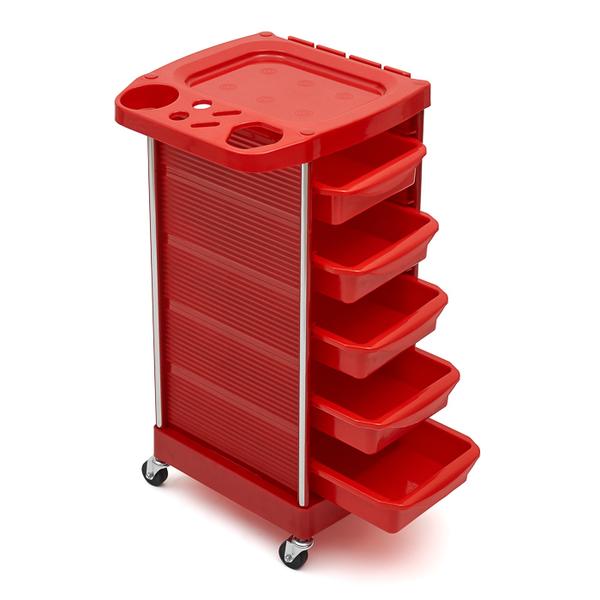 Тележка парикмахерская красная DY 629 red
