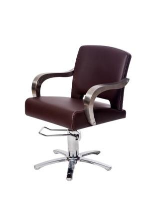 """Парикмахерское кресло """"Бруно""""на гидравлике пятилучье хром"""