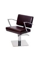 """Парикмахерское кресло """"Альфа """"гидравлика основание квадрат хром"""
