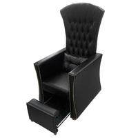 Педикюрное кресло ТРОН в каретной стяжке с выдвижной платформой